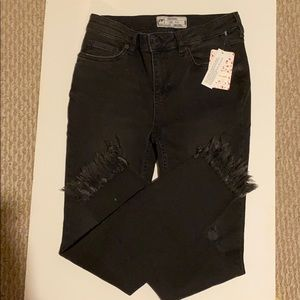 Free people black Womens jeans size 25 Nwt